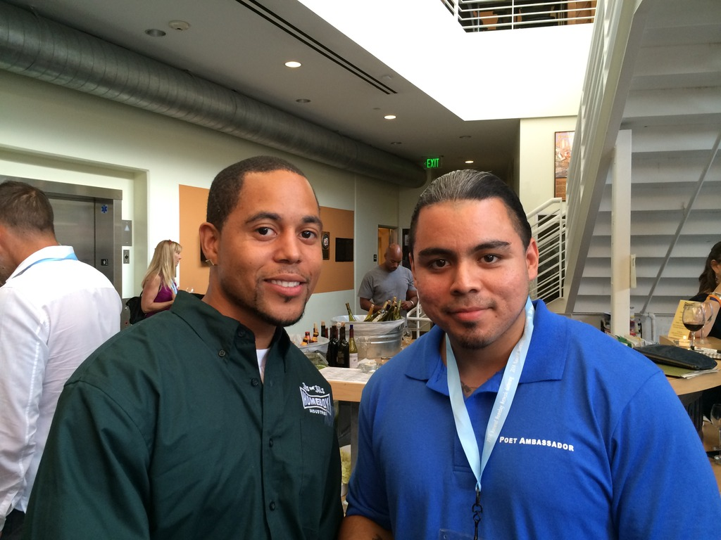 Wilbert (R) with Devon from Homeboys Industries