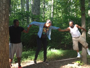 Team-building exercises at the Free Minds retreat