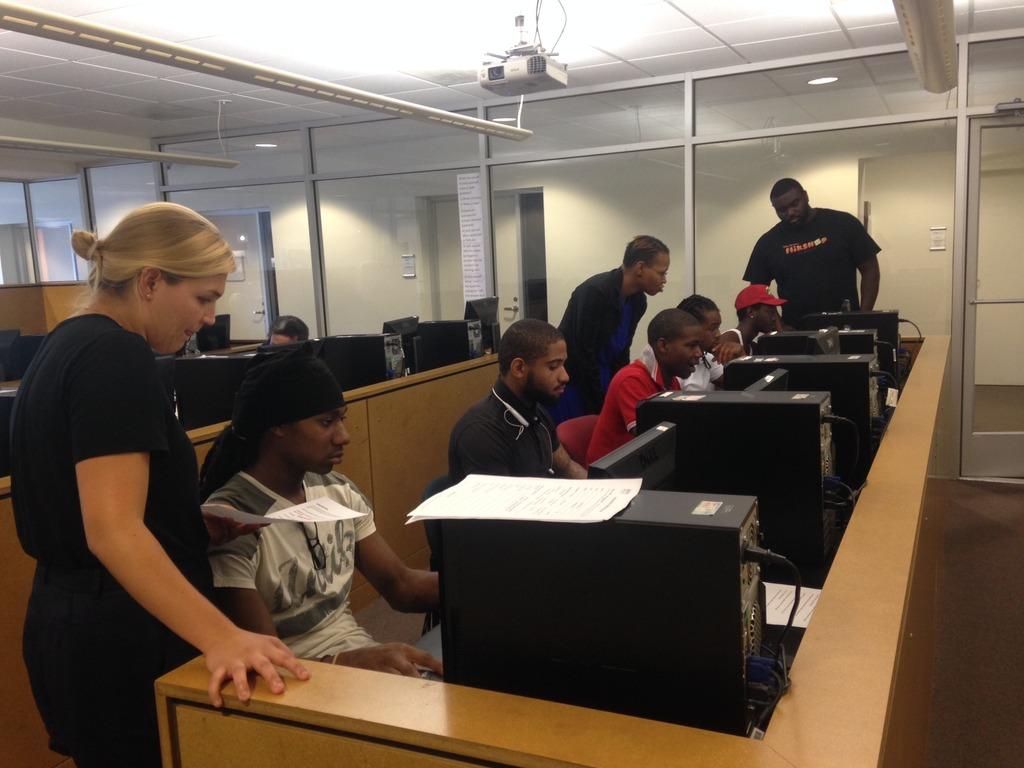 The Skyland Workforce Center Computer Lab