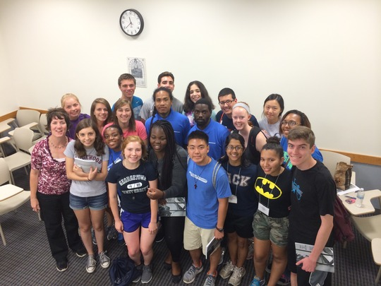 Poet Ambassadors & Georgetown University students