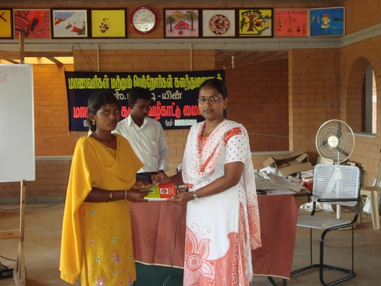 Stationery distribution to students