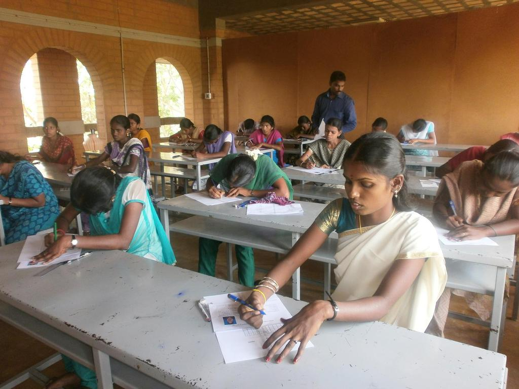 Students undergoing their assessment exams