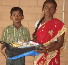 Educational & toiletry material distributed