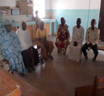 Meeting with AJESTOK Members in Tokombere hospital