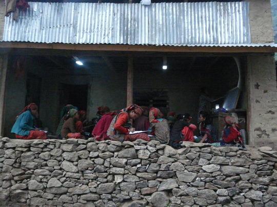 Paralegals educating  village women
