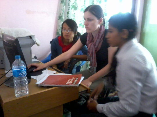 Paralegals learning database on Computer