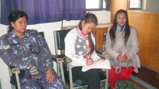 Intern helping survivor to file a complaint