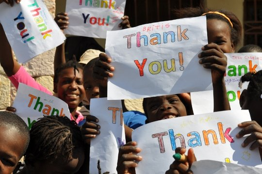 """The kids saying """"Thank You!!!"""""""