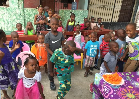 The kids would like a Christmas party like this