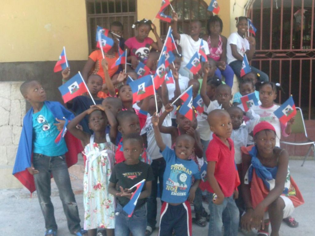 The kids also celebrated Haitian Flag Day