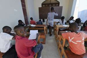 In School at his New House Thanks to You