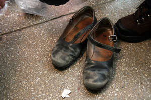 An orphan's old shoes