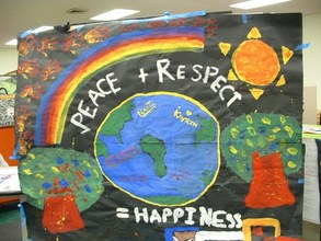 Middle school students' mural