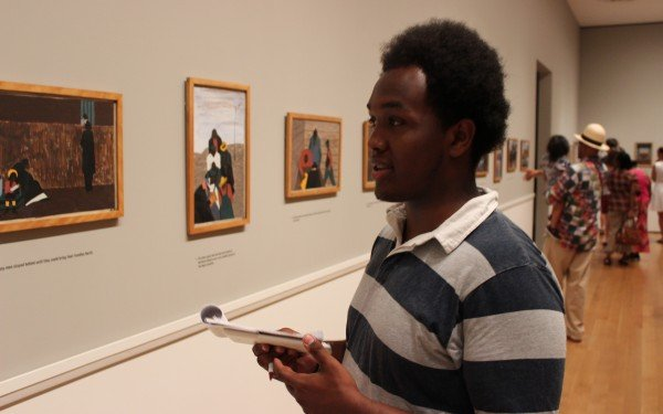 Students reflect on the Great Migration paintings
