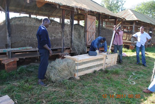 and making bales.