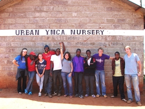 Kansas State students with youth