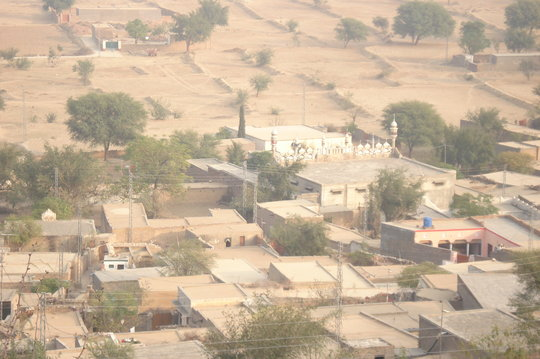 Close up view of village Laphi