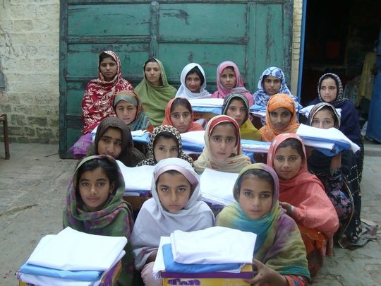 Send 30 girls in Pakistan to school