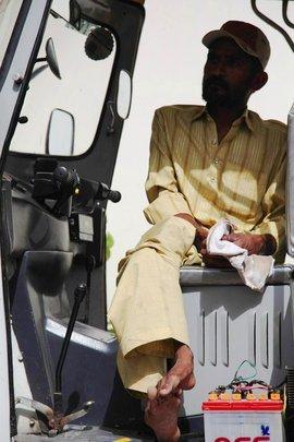 Imran - Our first rickshaw driver
