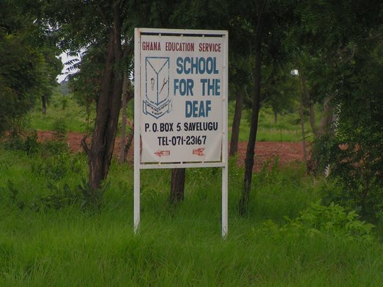 Savelugu School for the Deaf sign