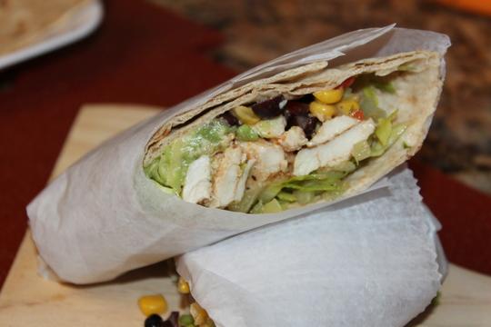 Southwest Chipotle Chicken Wrap, yum!