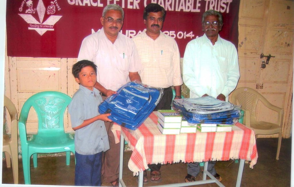 Educational support to a orphanage school student