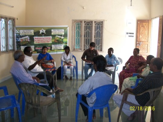 Mr.N. Krishnasamy addressing youth on pest control