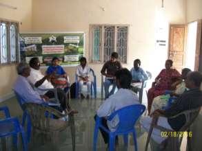 Mr.N. Krishnasamy addressing youth on pest control