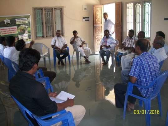 Mr. Yoganathan addressing youth and farmers