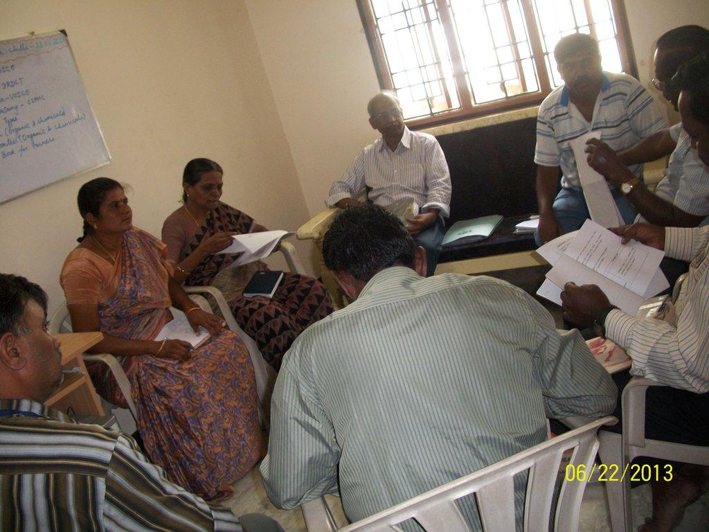 VOICE  Team discuss about handbook