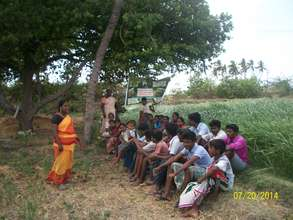 Theory class for Youth of Maniyankurichi village
