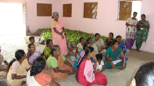 Agroforestry explained to farmers in July 2013.
