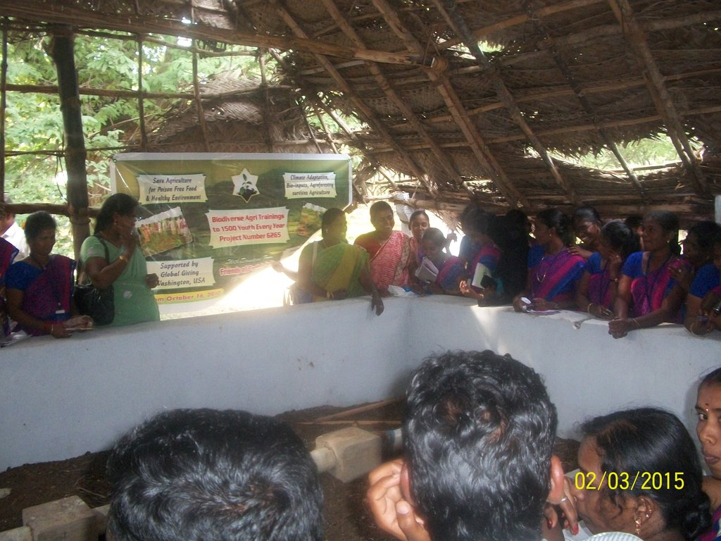 Youth shown vermi compost pit