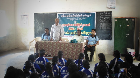 Training for Collage Students on September 22,2014
