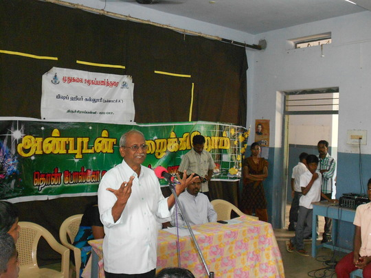 VOICE Director addressing Youth on Biodiversity