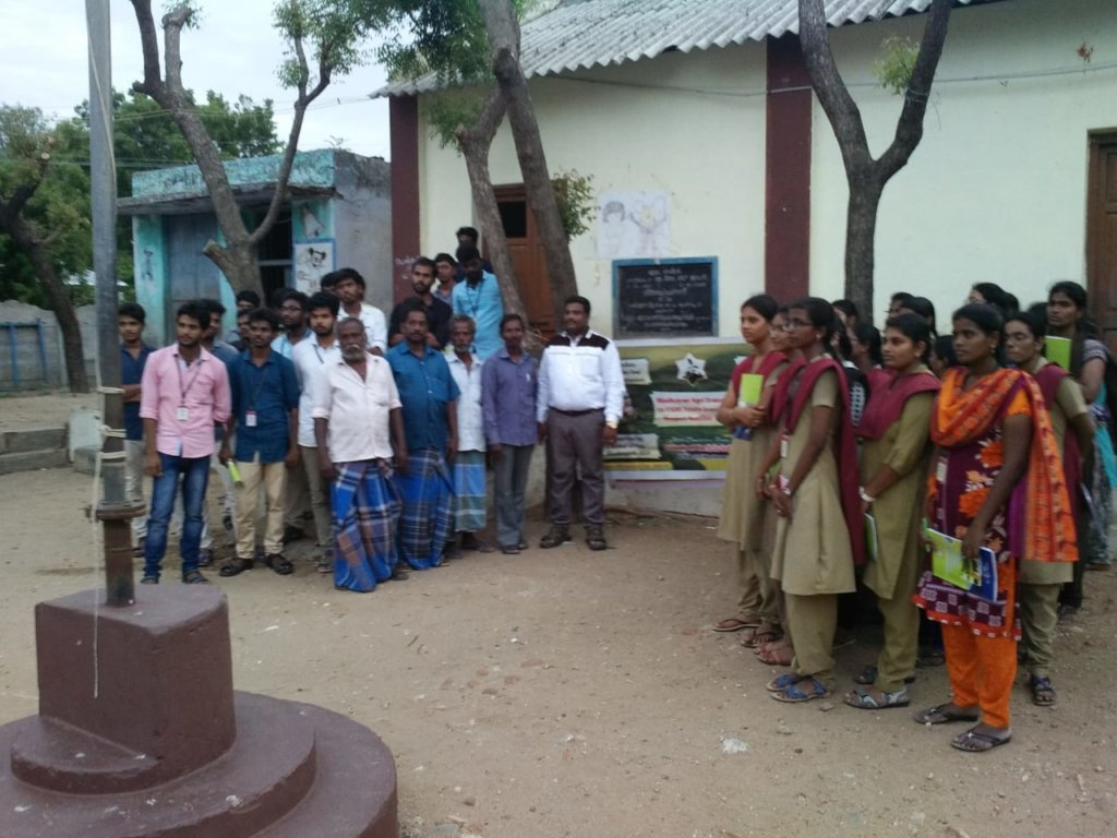 Village people and Youth participate in PRA