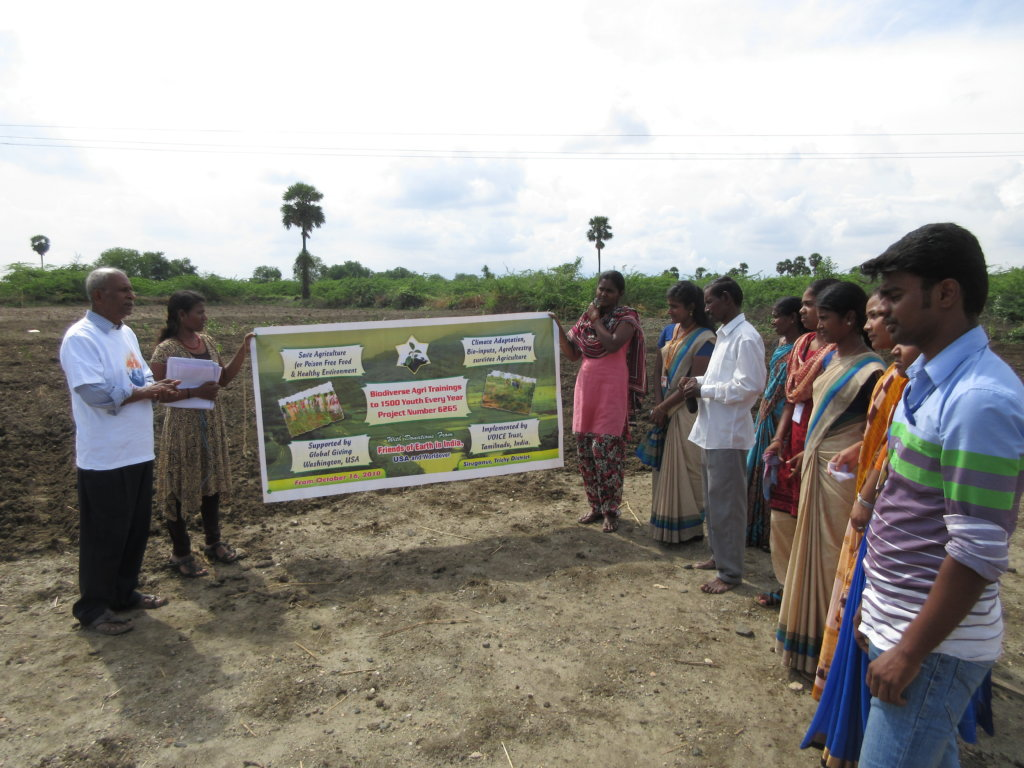 Local Youth given Biodiverse Agri Trainings