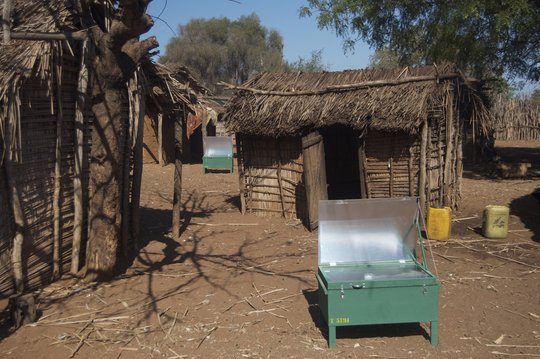 First time trial-Solar Cookers in Ranobe Village