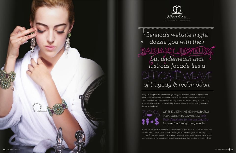 Senhoa jewelry in Freedom and Fashion Magazine