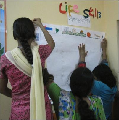 Girls in the Senhoa Pilot Program in India