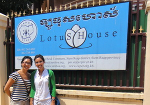 Country Director, Debra, and Me at Lotus House