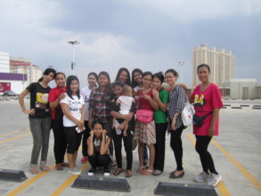 Houy with her beloved Senhoa team