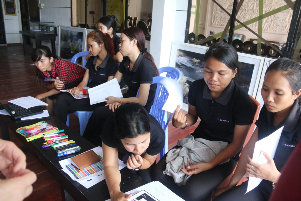 Our artisans at a self-improvement workshop.