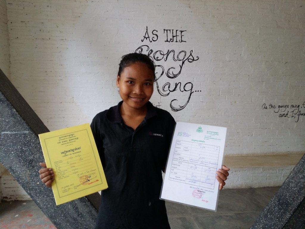 Ms. Samoeut certificates