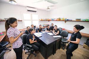 Sinoun with our artisan students
