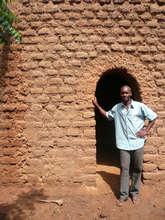 House in Ngolofala, front door