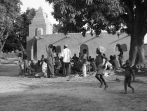 Mamarila mosque and villagers, Dendjola zone