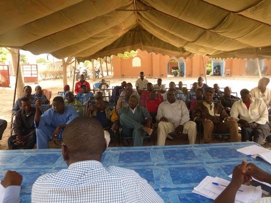Closing session masons' congress, Segou
