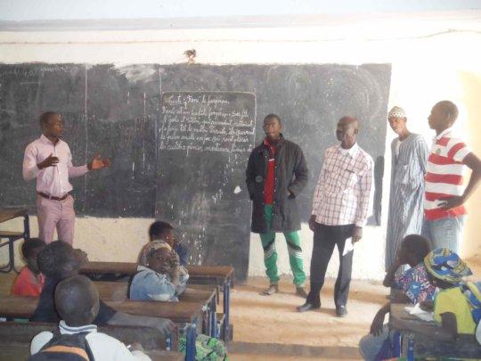 AVN and Kounda 78 in a NV classroom