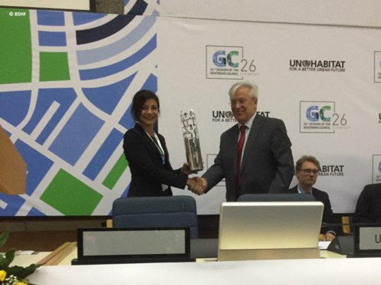 Rinaudo receives World Habitat Award